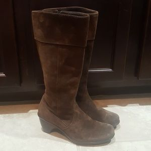 DANSKO Brown Suede Riding Boots - Size 38